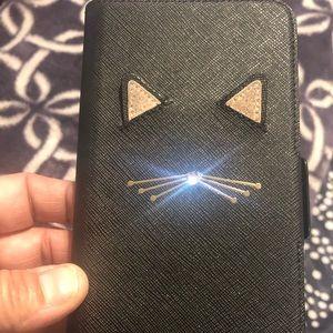 Kate Spade Cat's Meow Folio iphone 8 Plus Case
